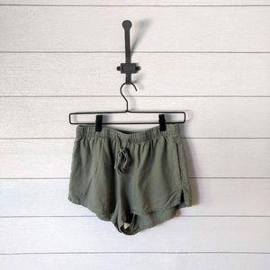 Forever 21 Green Drawstring Shorts